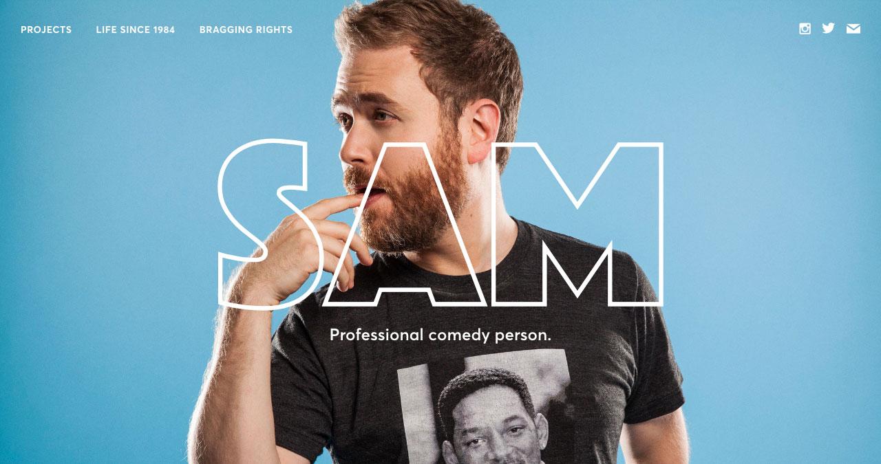 Sam Reich Website Screenshot