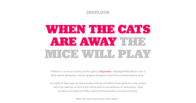 When The Cats Are Away… Thumbnail Preview