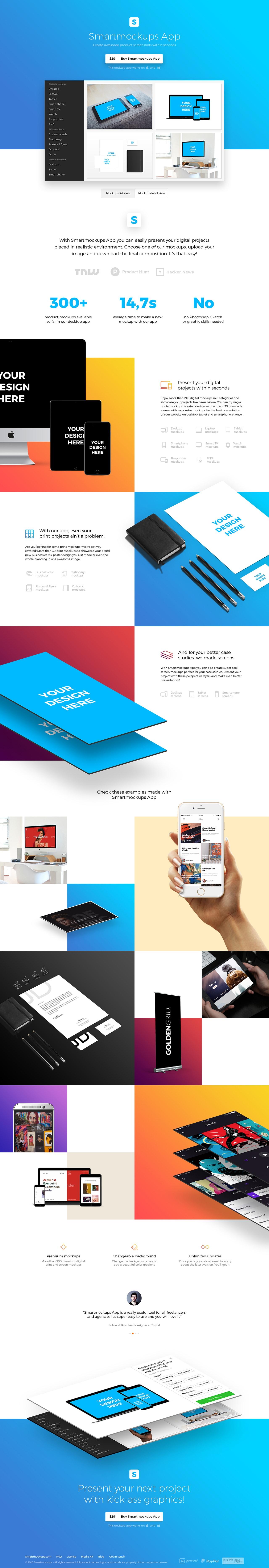 Smartmockups App Website Screenshot