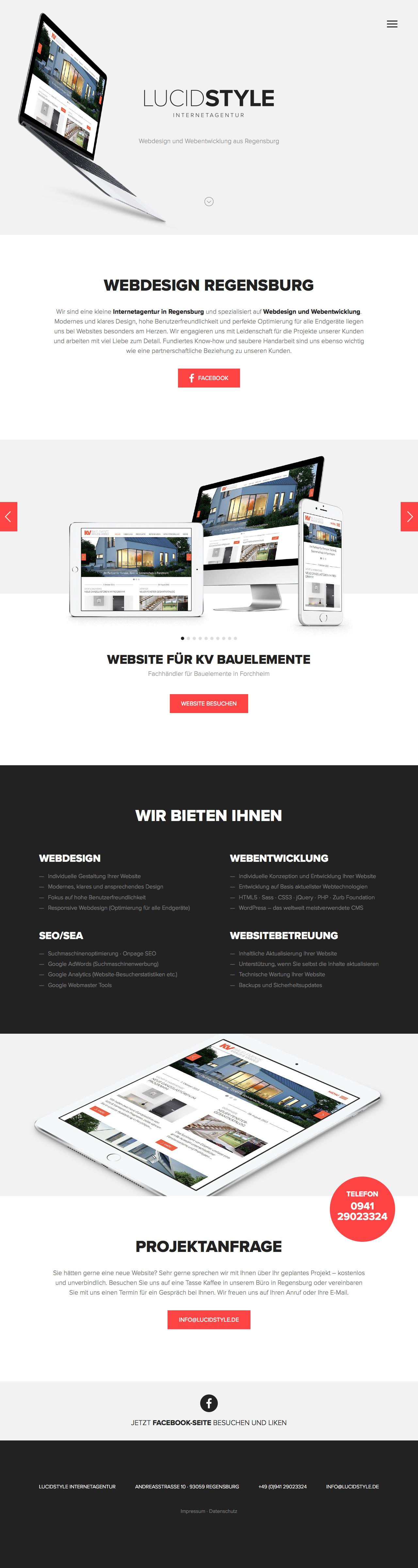 Lucidstyle Internetagentur Website Screenshot