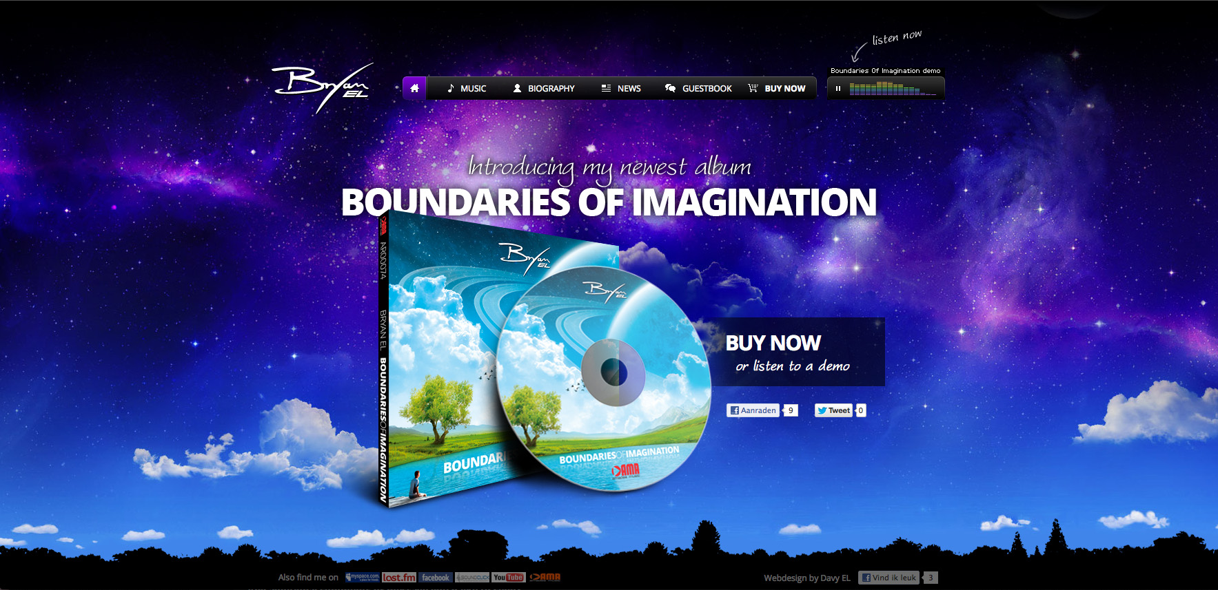 Bryan EL music Website Screenshot