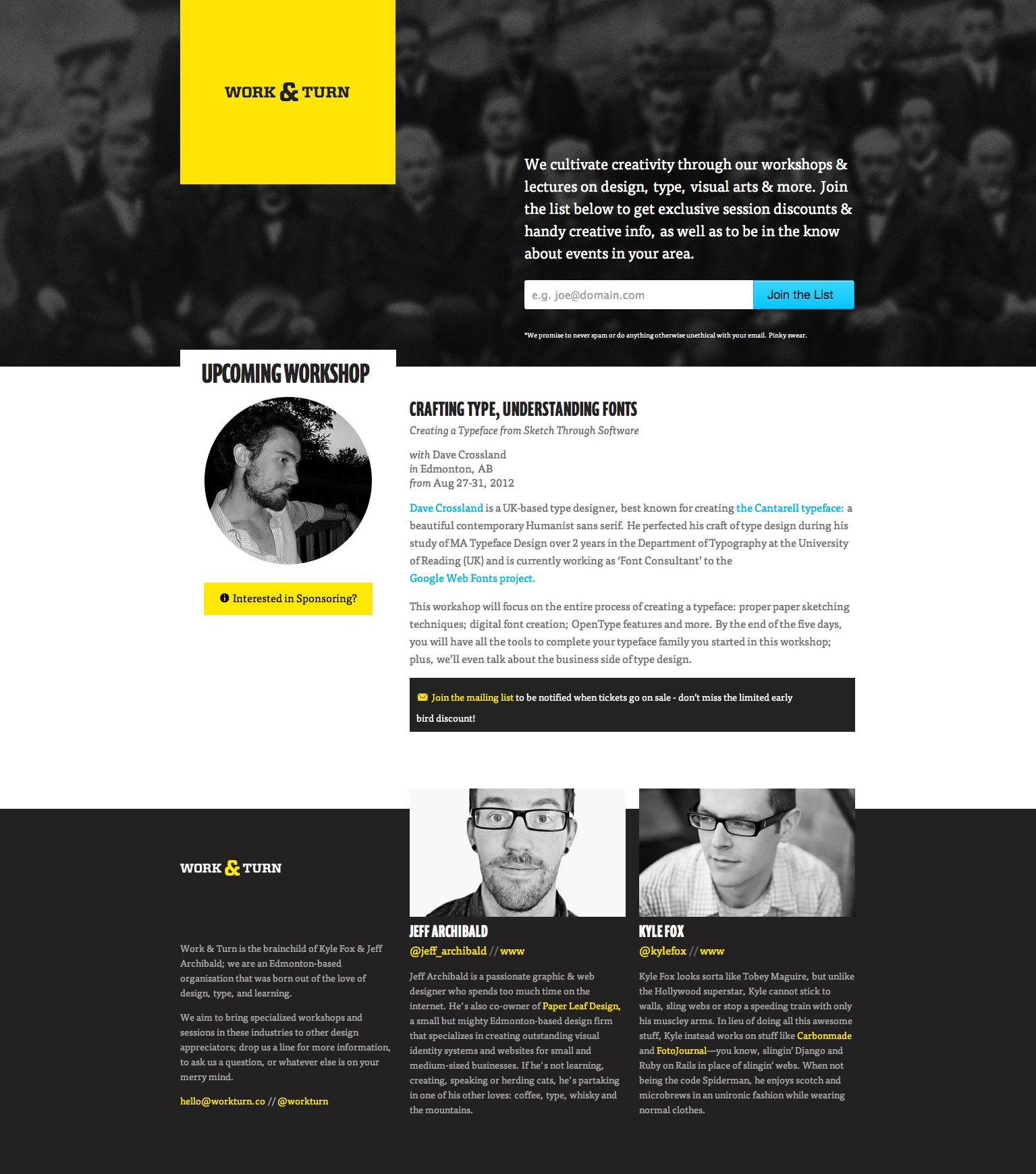 Work & Turn Website Screenshot
