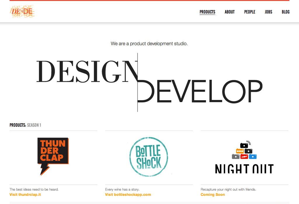DE-DE Design & Develop Website Screenshot