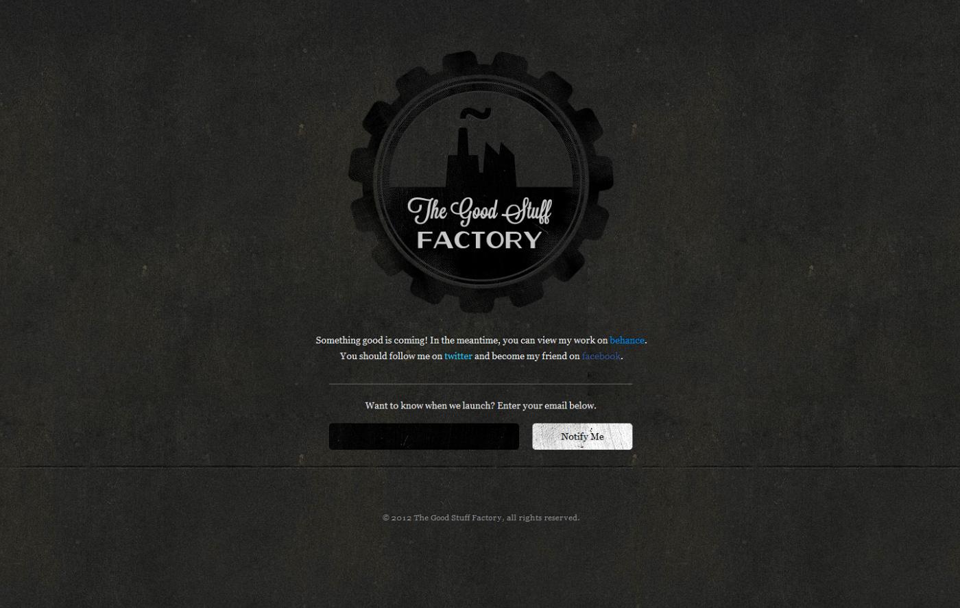 The Good Stuff Factory Website Screenshot