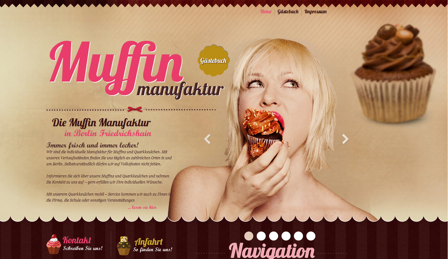 Muffin Manufaktur Website Screenshot