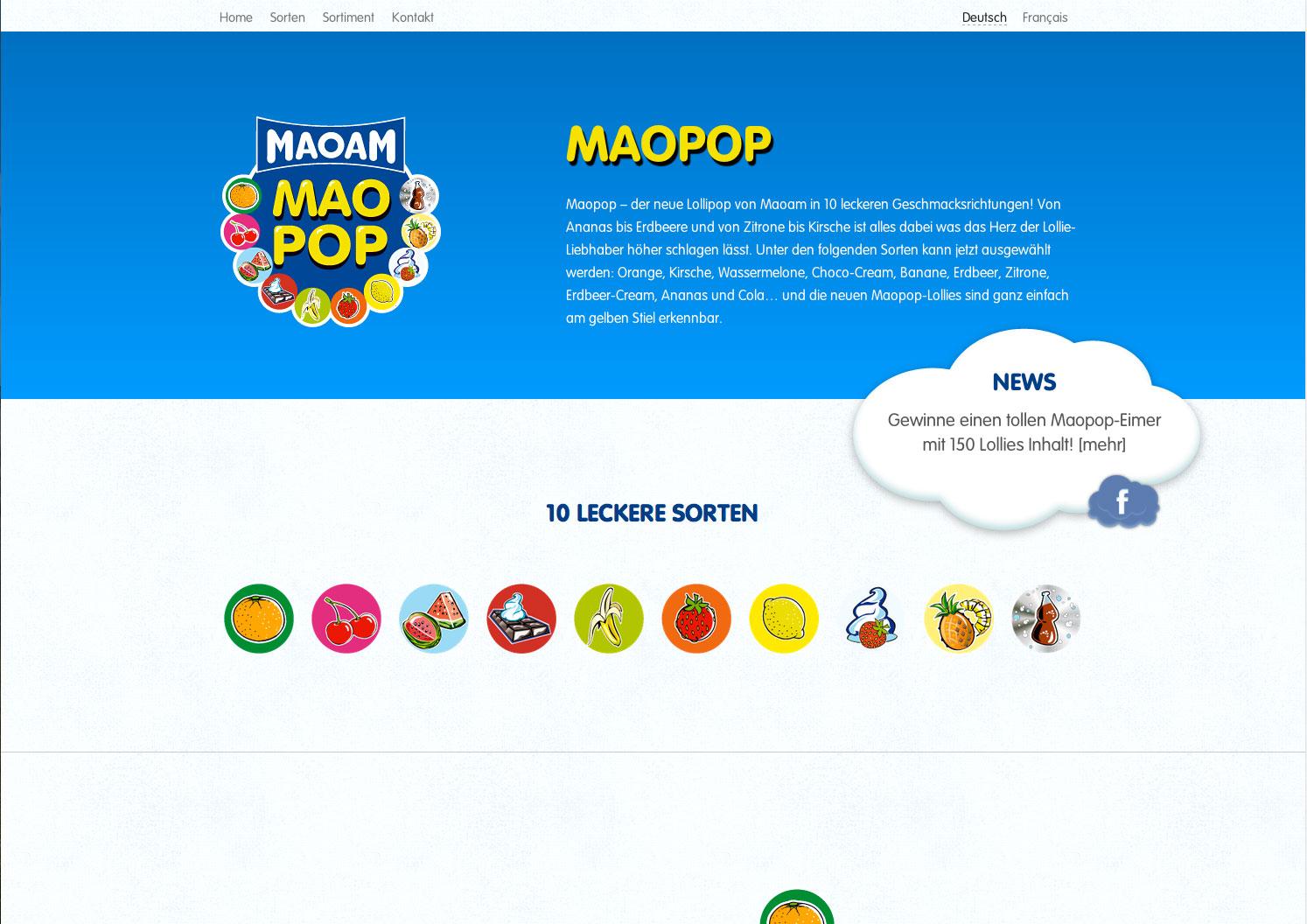 Maopop Website Screenshot