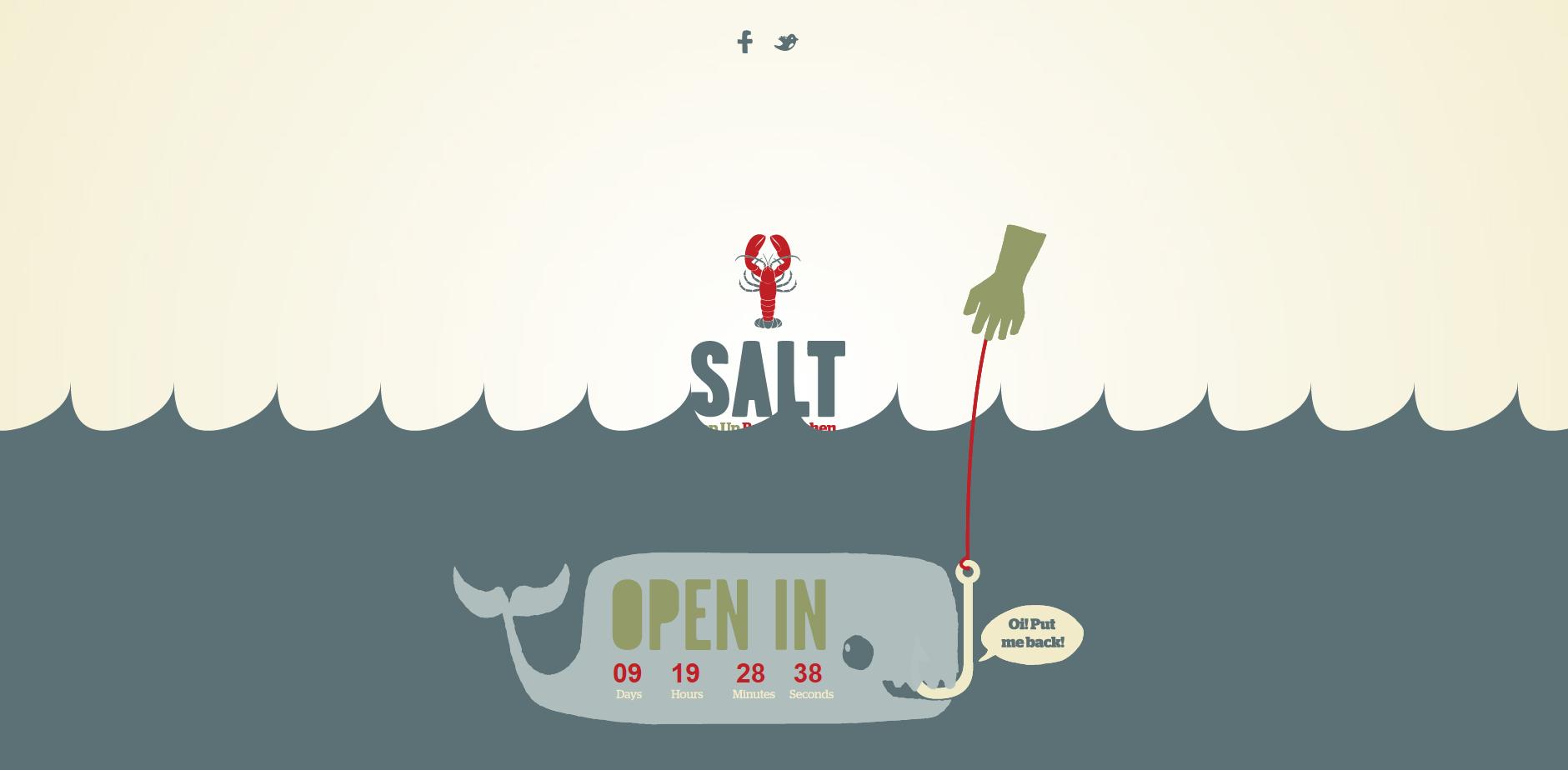 Salt Pop Up Bar Website Screenshot