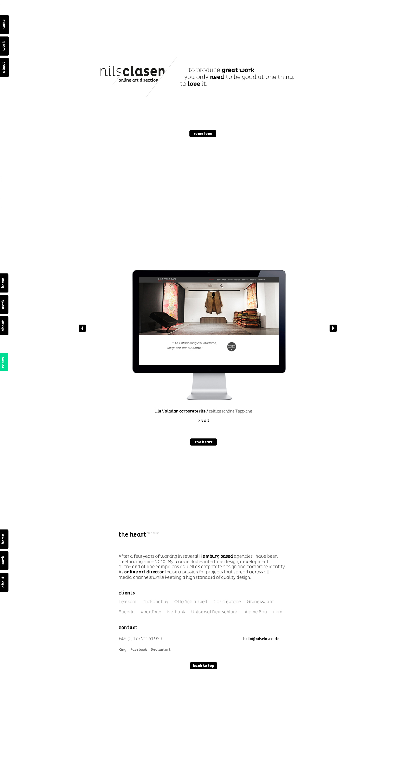 nils clasen Website Screenshot