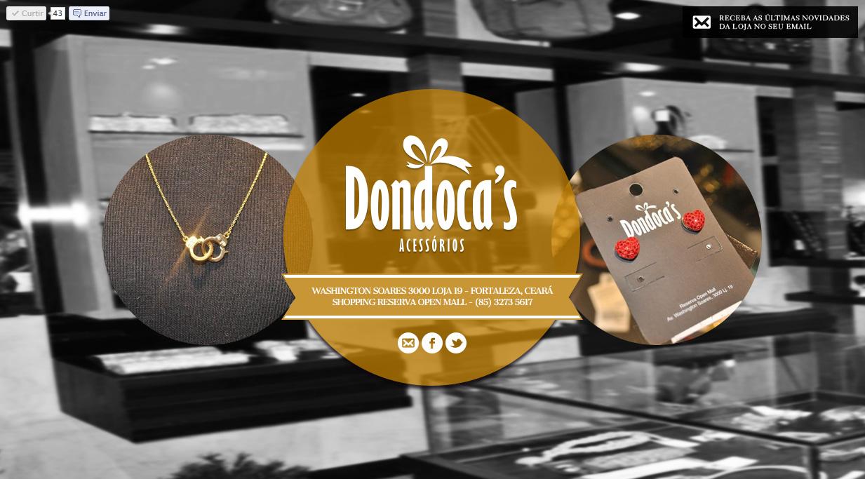 Dondoca's Acessórios Website Screenshot
