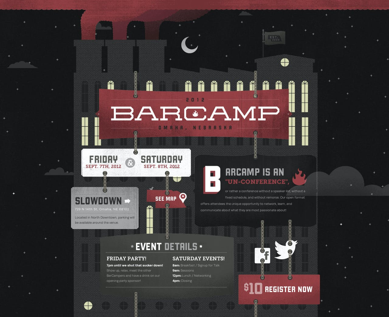 Barcamp Omaha 2012 Website Screenshot