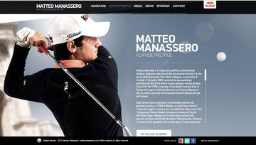 Matteo Manassero Official Website Thumbnail Preview
