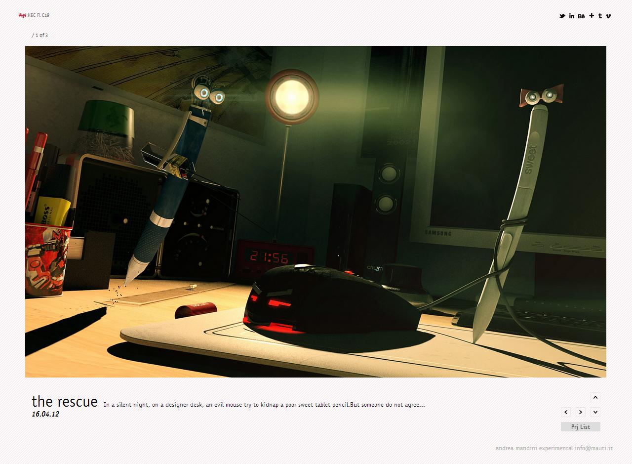 Andrea Mandini Experimental Website Screenshot