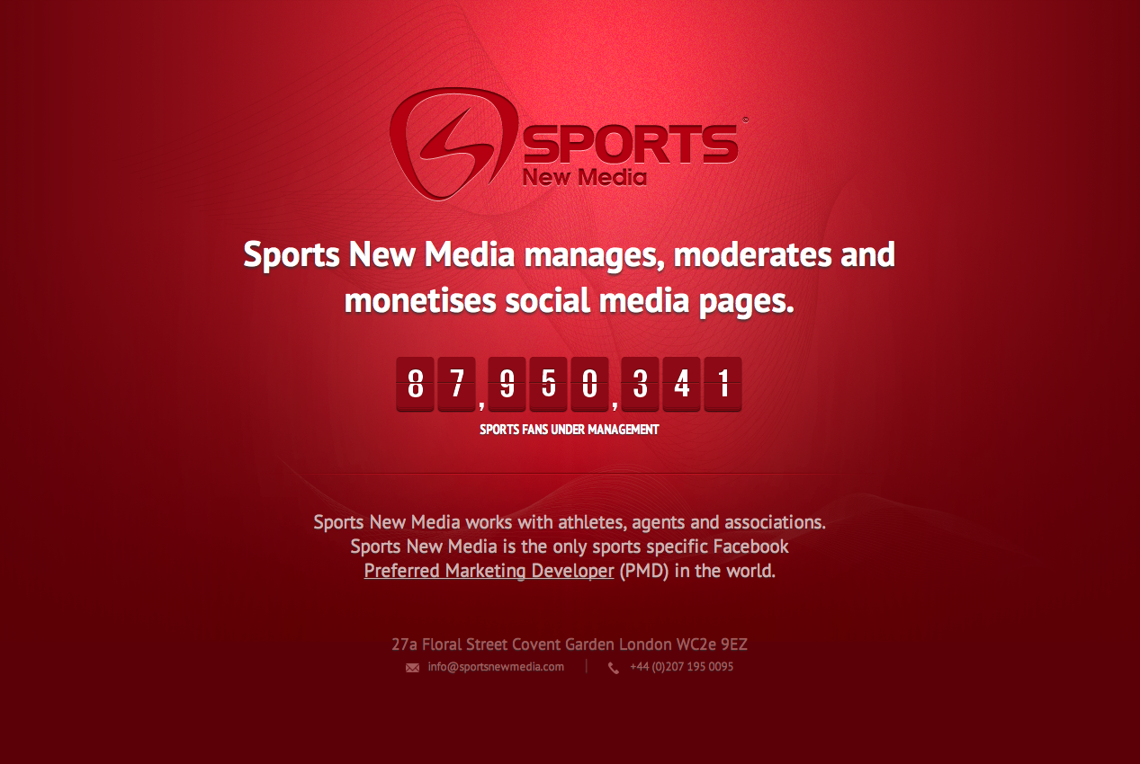 Sports New Media Website Screenshot