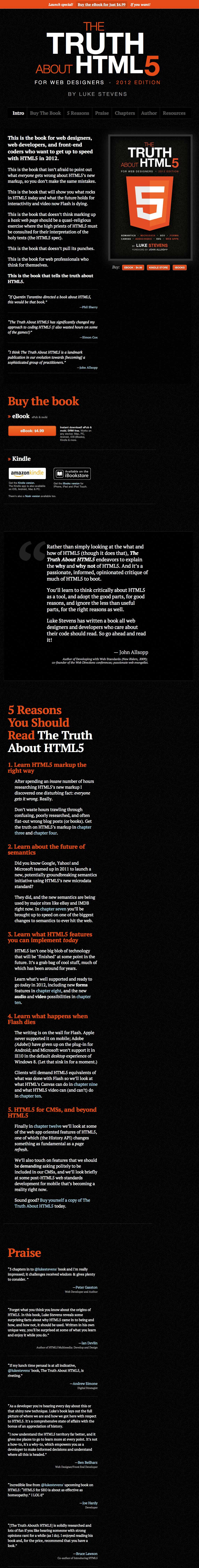 The Truth About HTML5 Website Screenshot