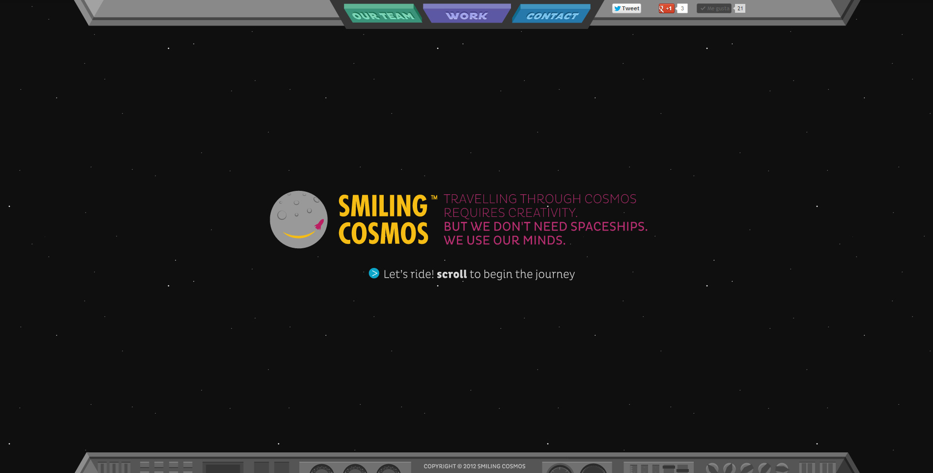 Smiling Cosmos Website Screenshot