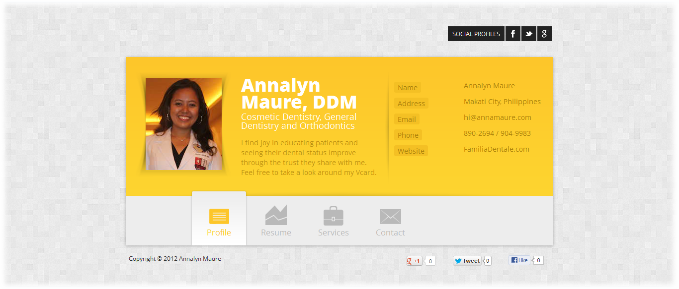 Annalyn Maure Website Screenshot