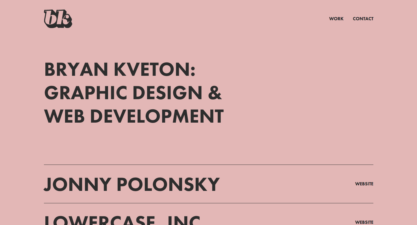 Bryan Kveton Website Screenshot