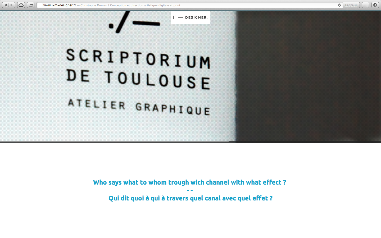 Christophe Dumas Website Screenshot