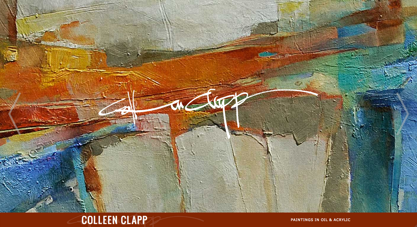 Colleen Clapp Website Screenshot