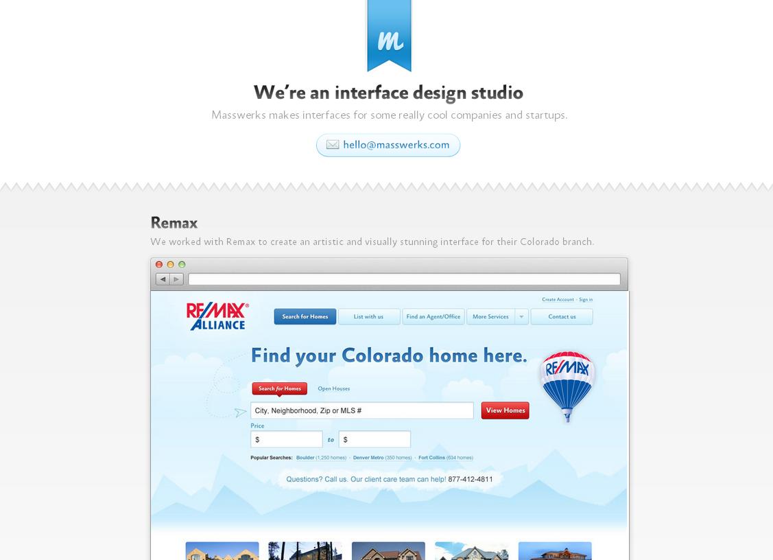Masswerks Website Screenshot