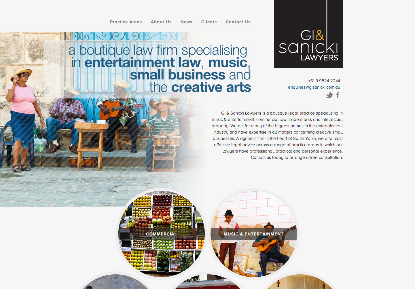 GI & Sanicki Lawyers Website Screenshot