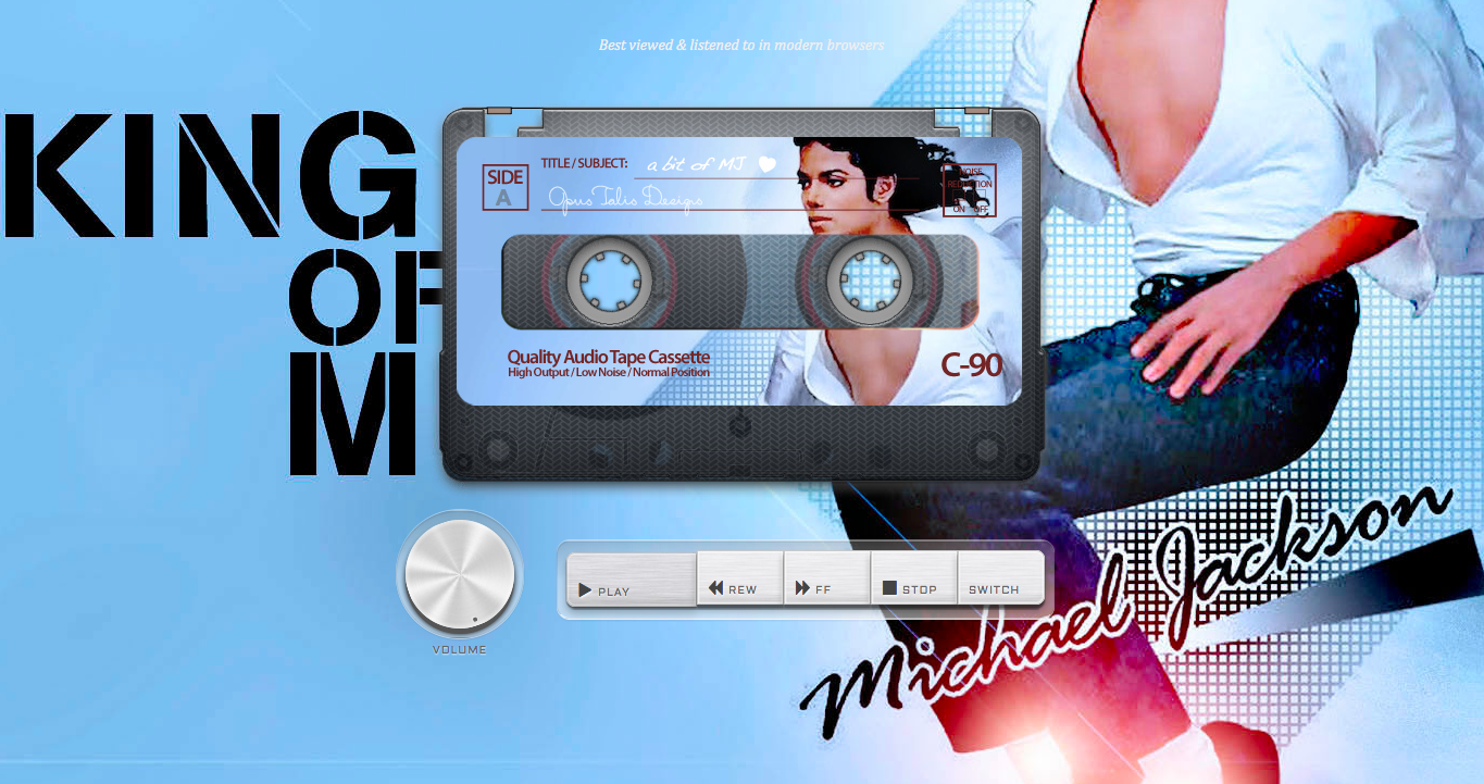 A bit of Michael Jackson Website Screenshot