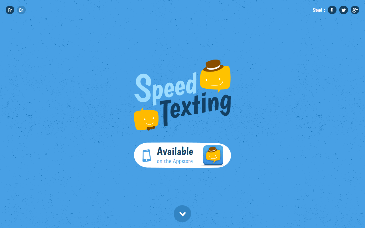 Speed Texting – iPhone Website Screenshot