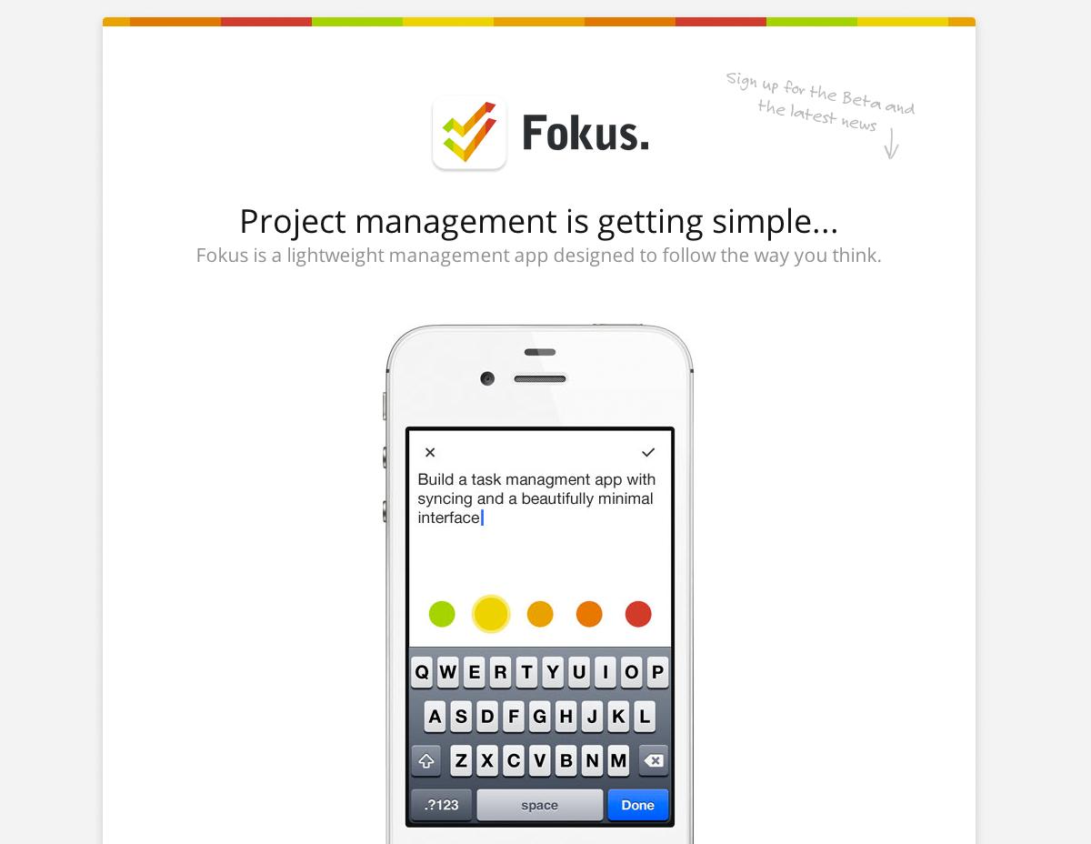 Fokus Website Screenshot