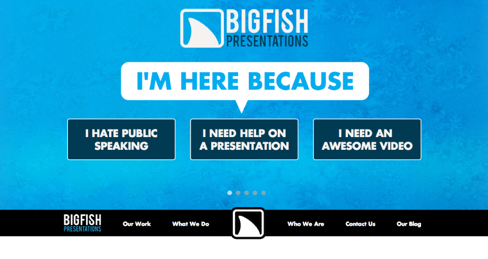 Big Fish Presentations Website Screenshot