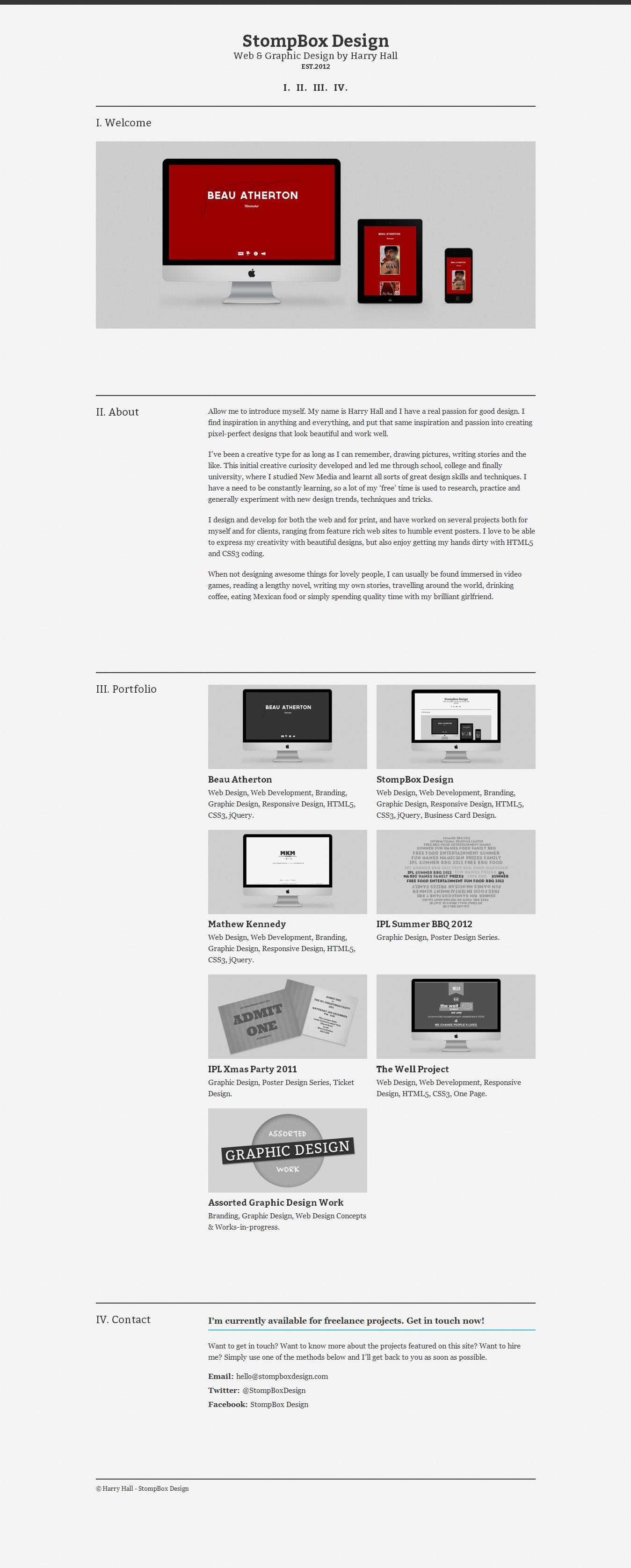 StompBox Design Website Screenshot