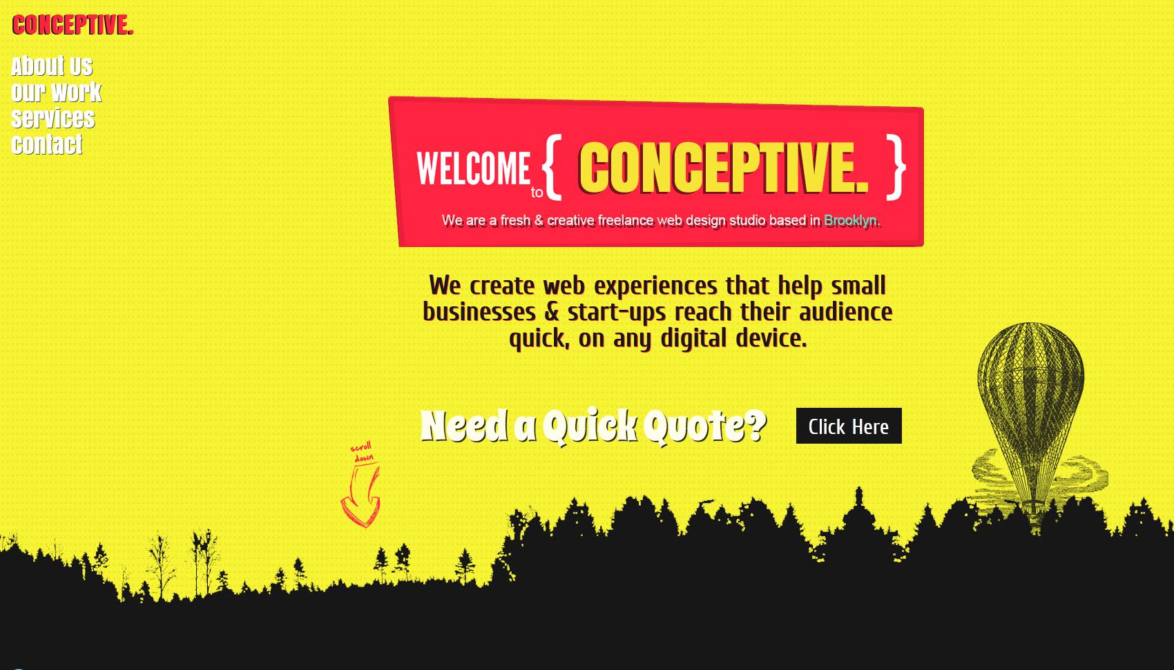 Conceptive Design Website Screenshot