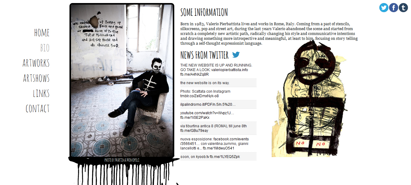 Valerio Pierbattista Website Screenshot