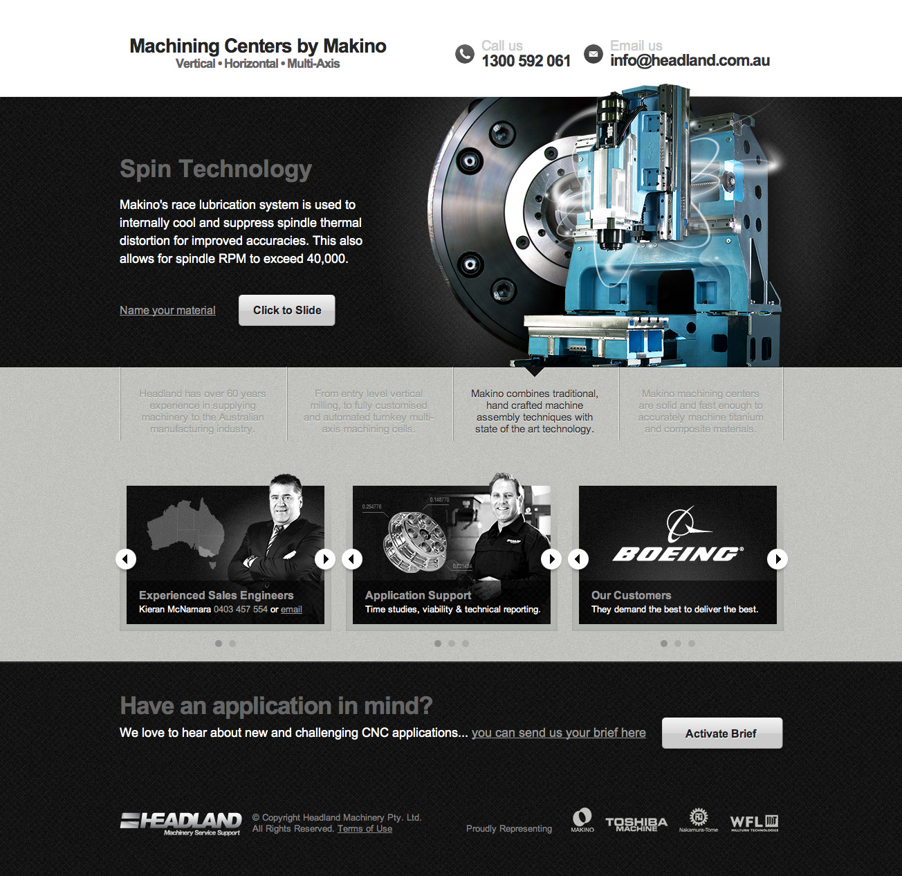 Machining Centers By Makino One Page Website Award