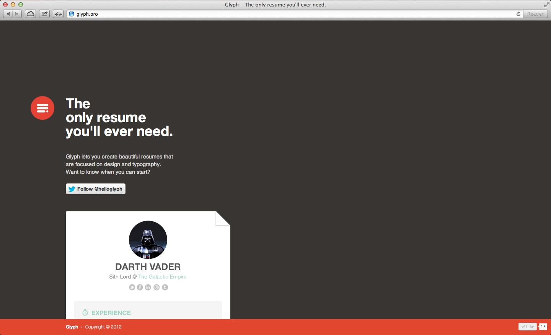 Glyph Website Screenshot