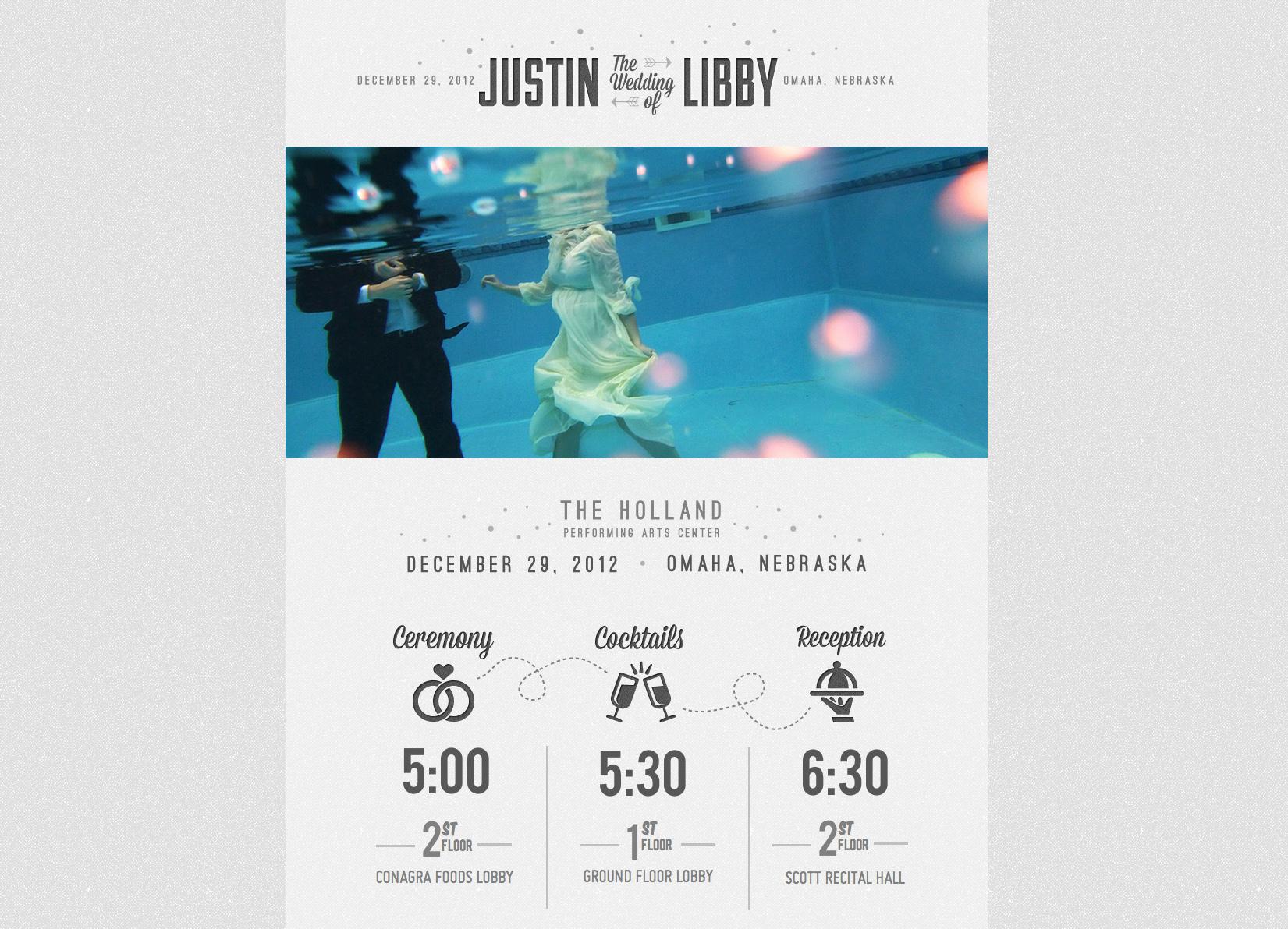 Libby & Justin Website Screenshot