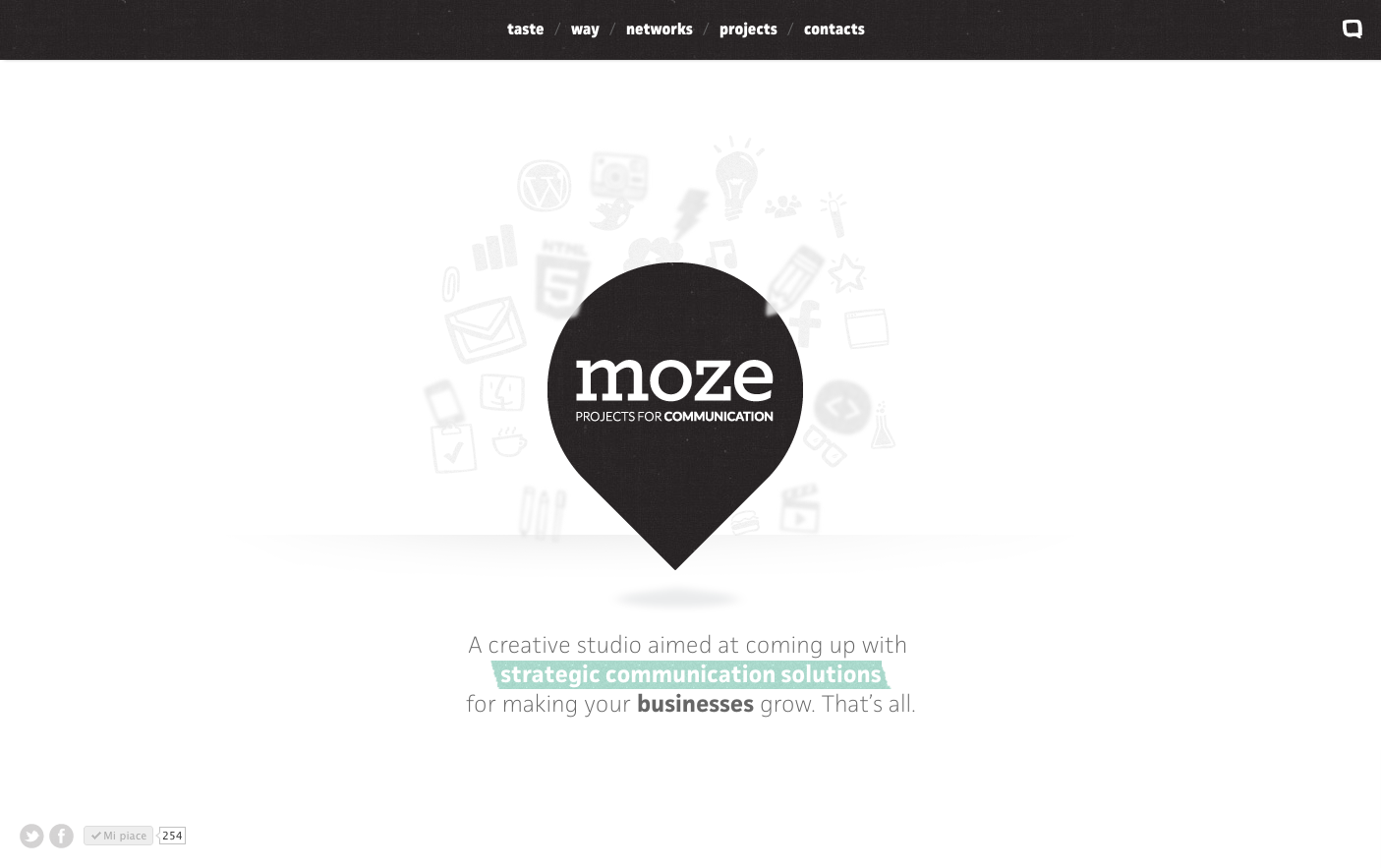 moze Website Screenshot