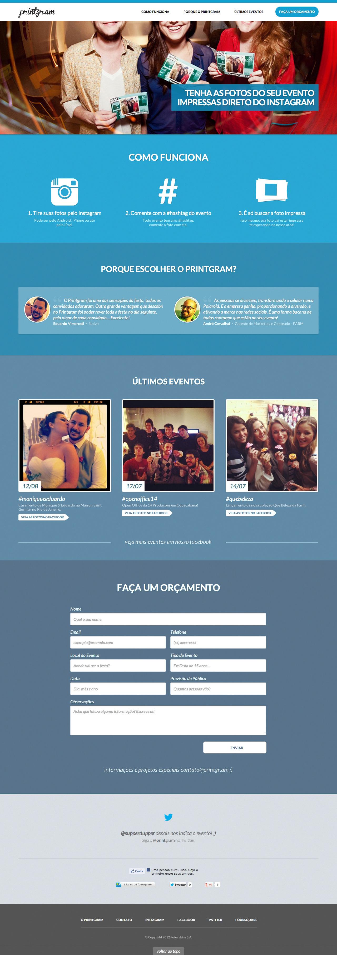 Printgram Website Screenshot