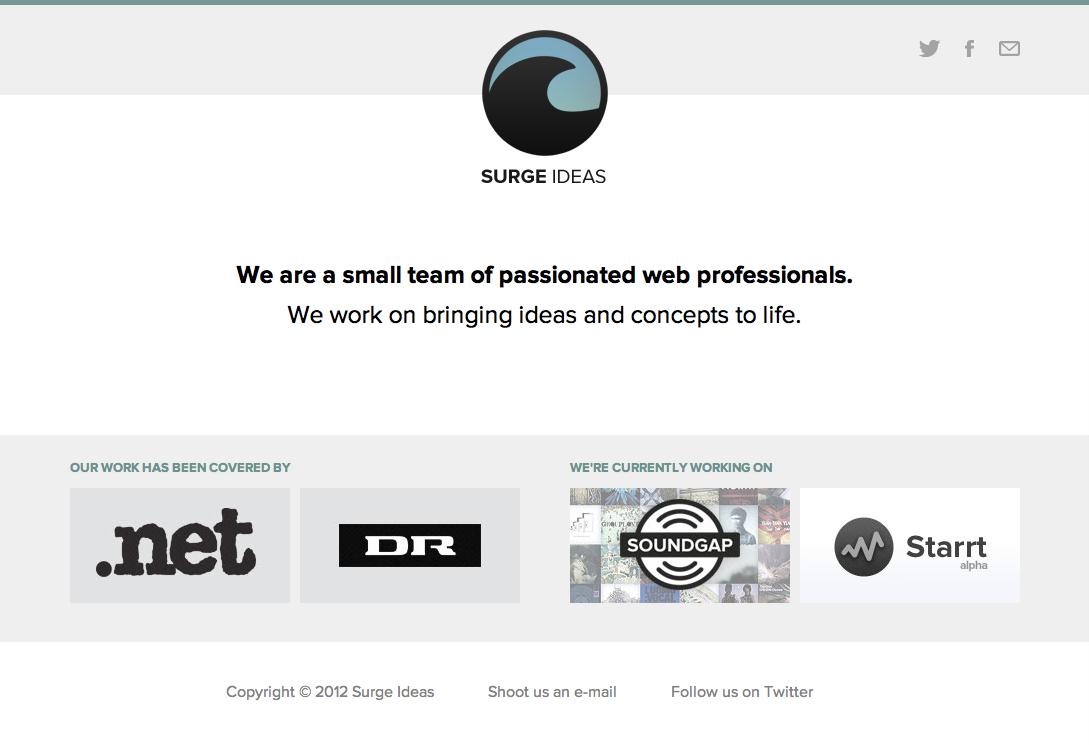 Surge Ideas Website Screenshot