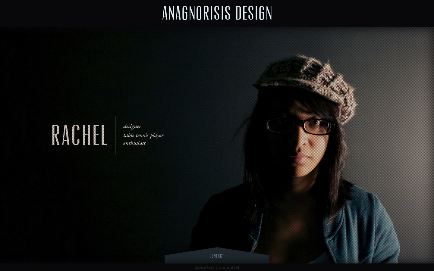Anagnorisis Design Website Screenshot