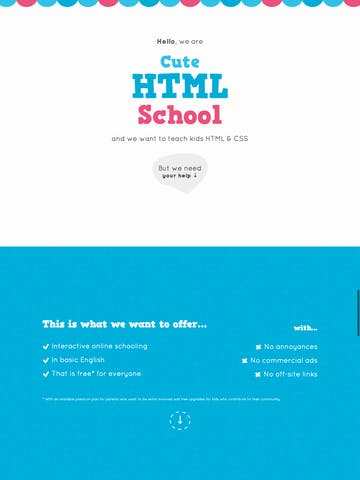Cute HTML School Thumbnail Preview