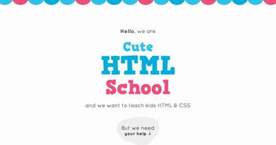 Cute HTML School Thumbnail Preview