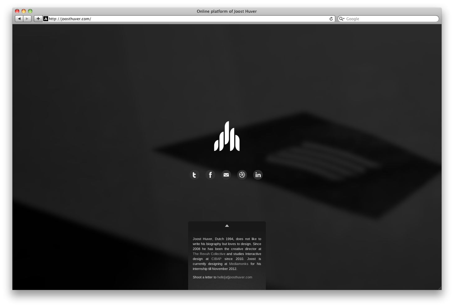 Online Platform of Joost Huver Website Screenshot