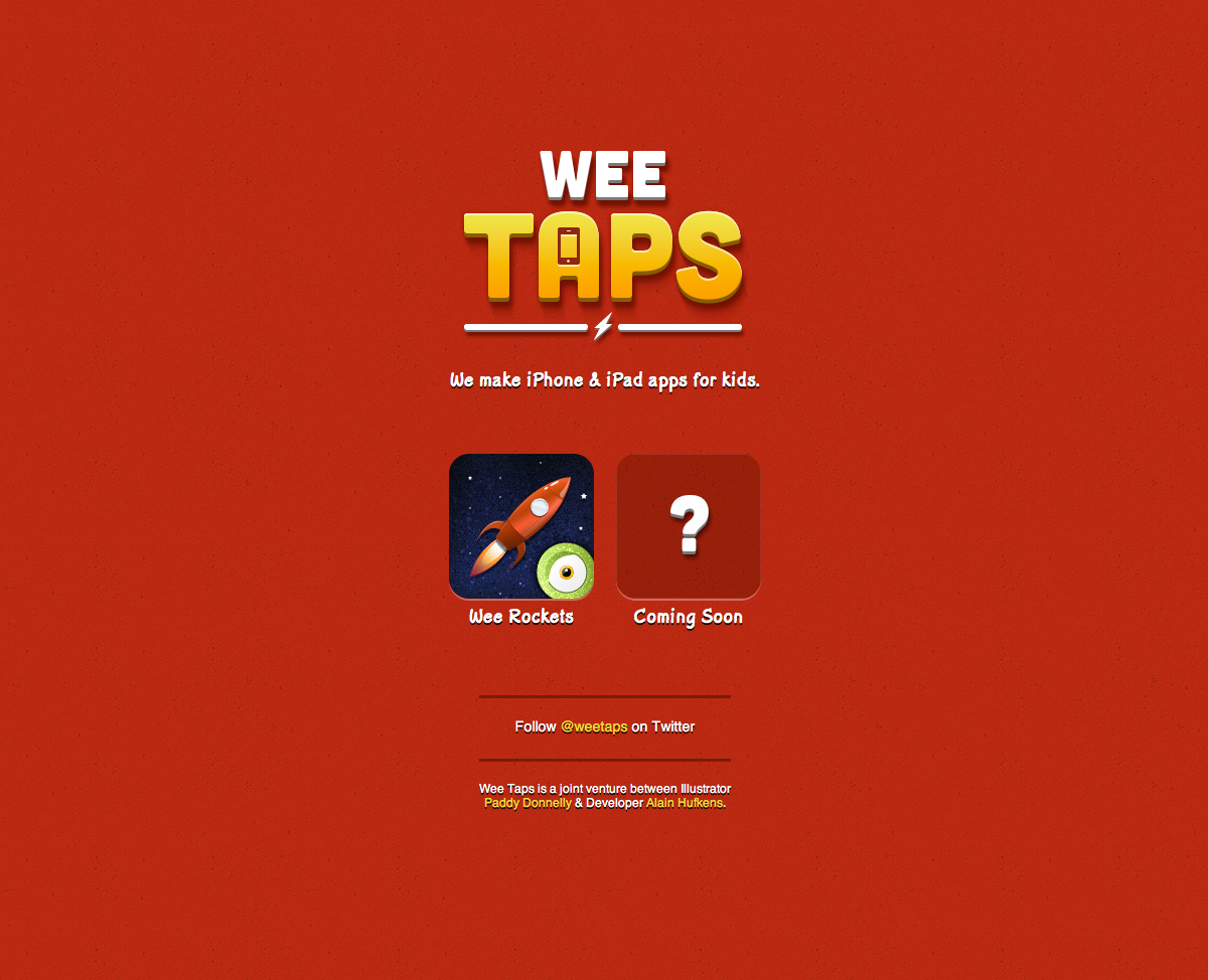 Wee Taps Website Screenshot