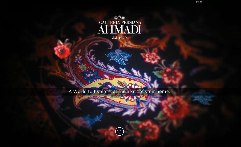 Galleria Persiana Ahmadi Website Screenshot