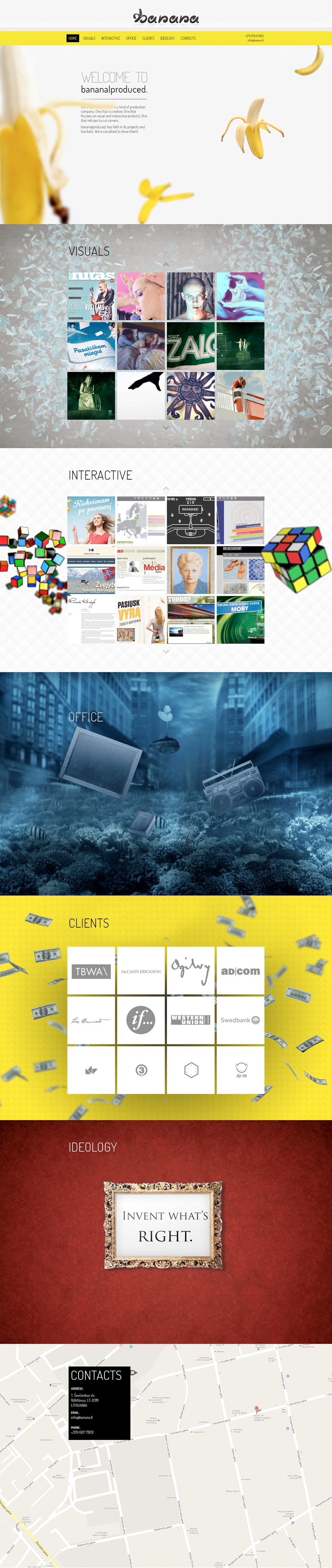 Banana Produced Website Screenshot