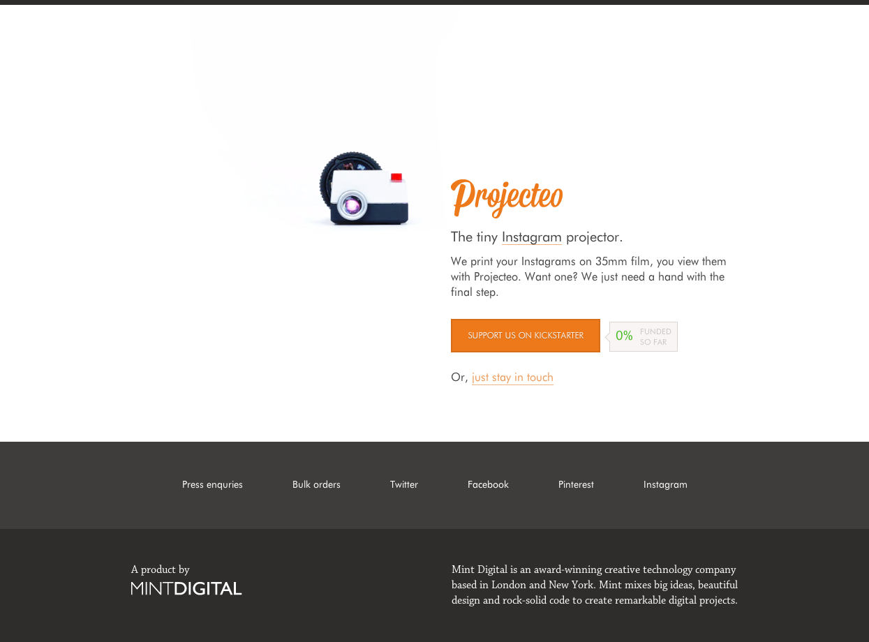 Projecteo Website Screenshot