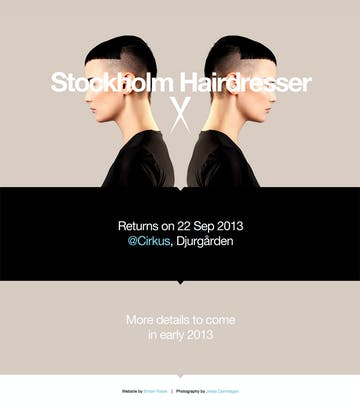 Stockholm Hairdresser 2013 Thumbnail Preview