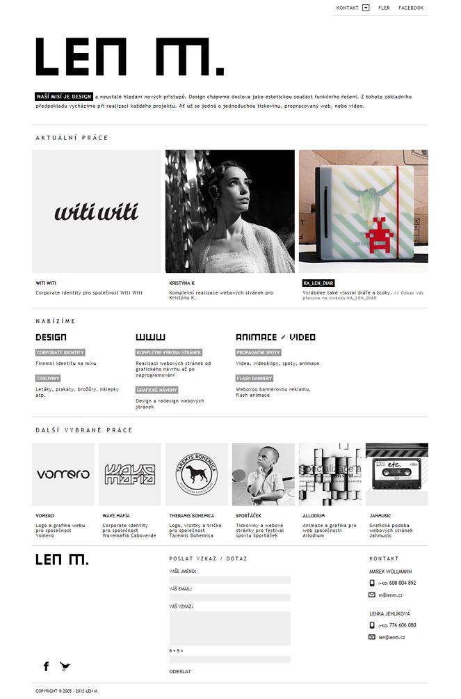 LEN M. Website Screenshot