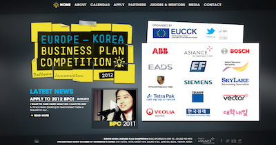 Europe Korea BPC Website Screenshot