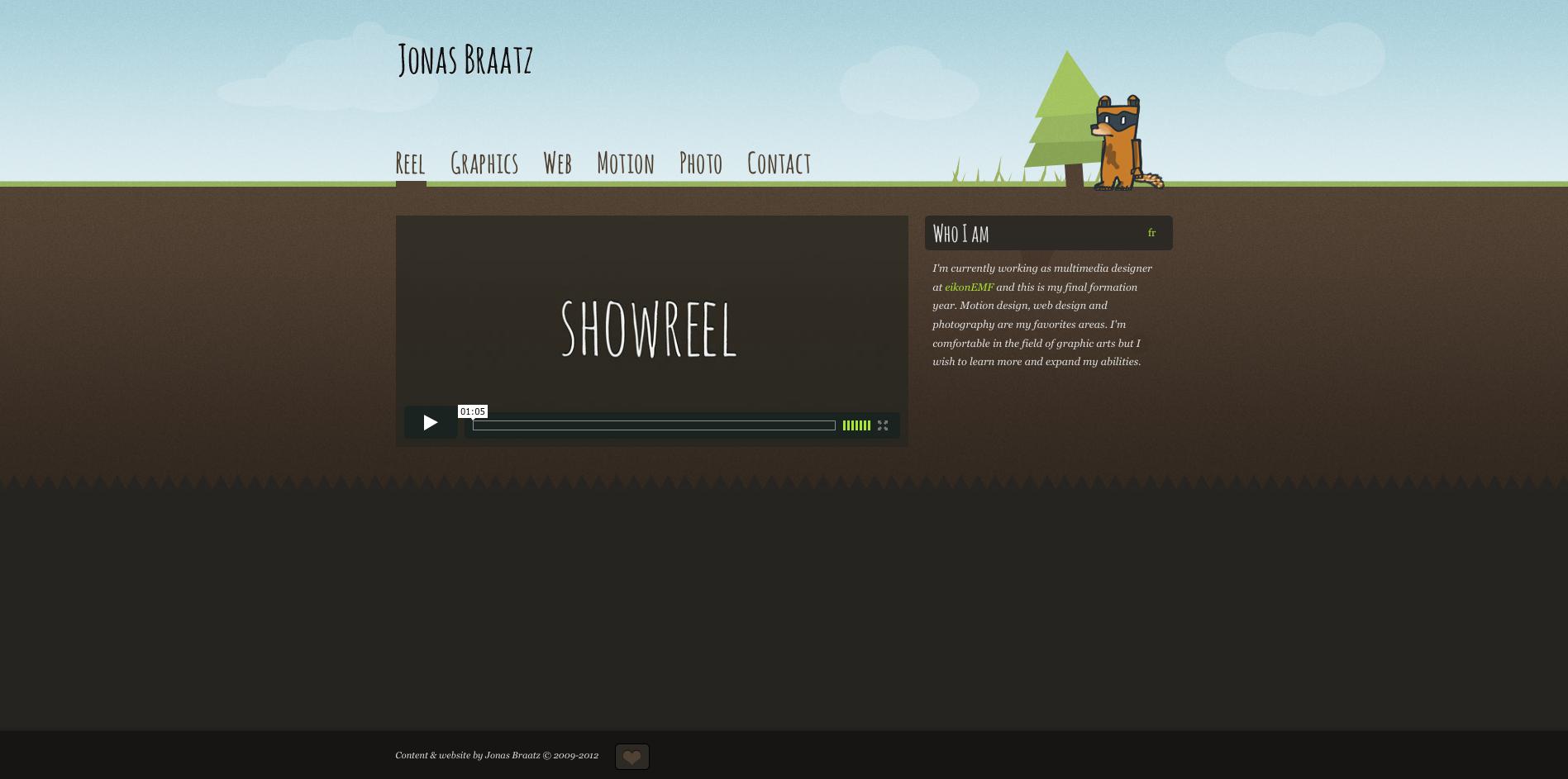 Jonas Braatz Website Screenshot